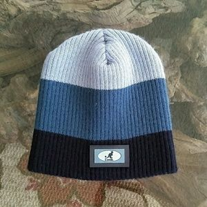 KANGOL Rib Knit Rubber Patch Pull-On CBlock Beanie